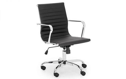 Gio Office Chair - Black & Chrome