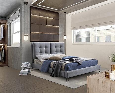 Tuscany Fabric Bed Frame-Light Grey