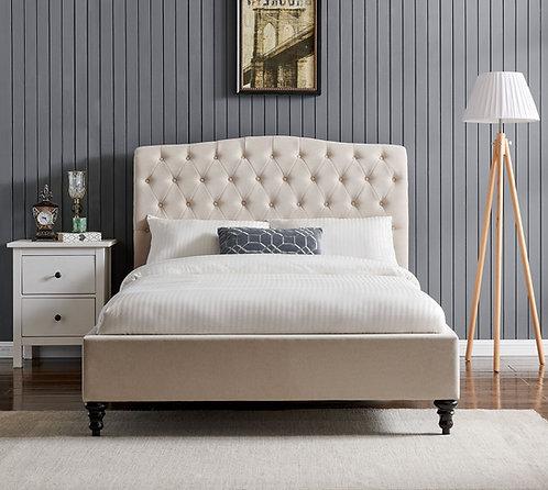 Rosa  Fabric Bed Frame- Natural