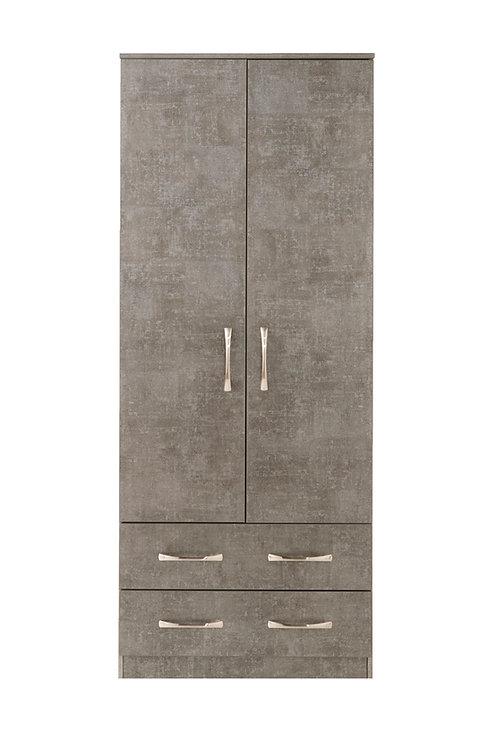 Avon 2 Door, 2 Drawer Wardrobe