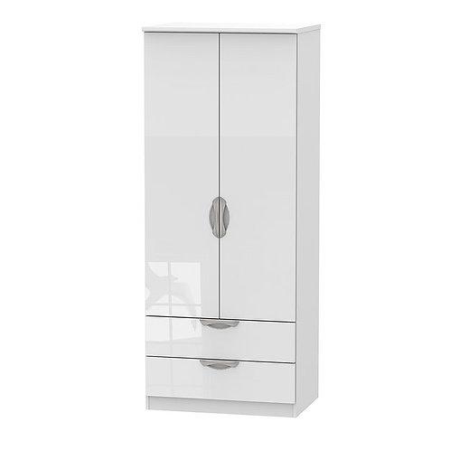 Camden Tall 2 Door-2 Drawer Wardrobe