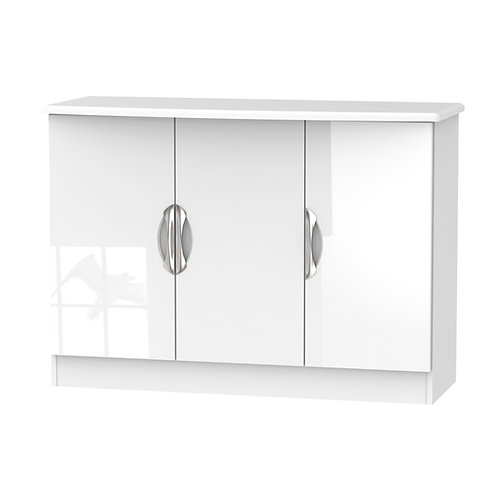 Camden 3 Door Unit-White Gloss