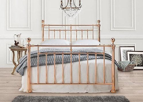 Alexander Metal Bed Frame-Rose Gold