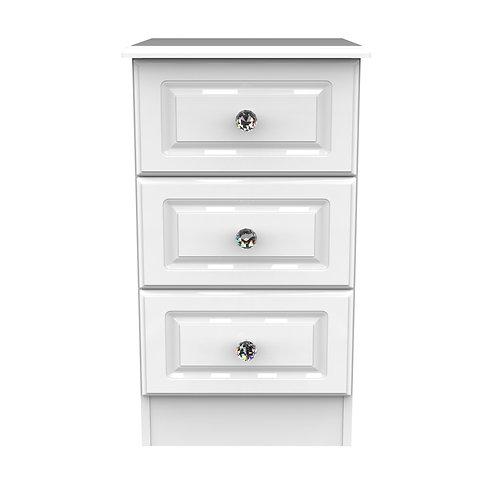 Balmoral 3 Drawer Locker- White Gloss