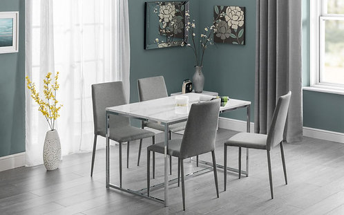 Scala Marble Dining set & 4 Jazz Chairs