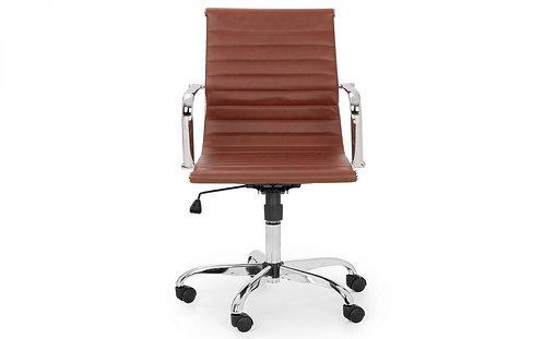 Gio Office Chair - Brown & Chrome
