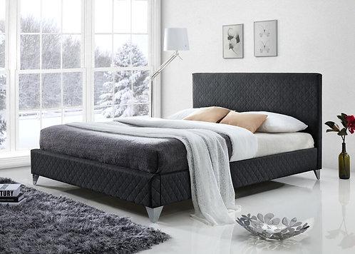 Brooklyn Fabric Bed Frame-Dark Grey