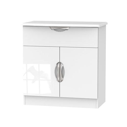 Camden 2 Door/1 Drawer Unit-White Gloss