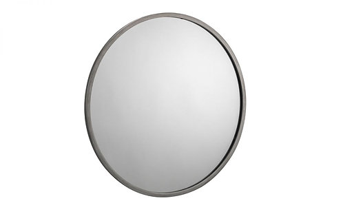 Octave Round Wall Mirror- Pewter