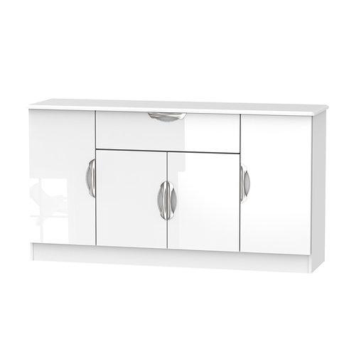 Camden 4 Door/1 Drawer Unit-White Gloss