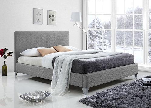 Brooklyn Fabric Bed Frame-Light Grey