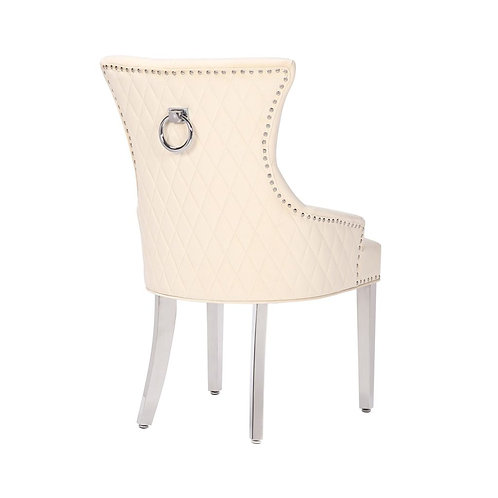Mayfair Pull Ring Dining Chairs-Cream