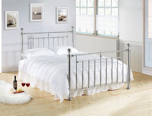 Alexander Metal Bed Frame-Chrome