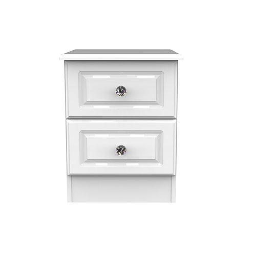 Balmoral 2 Drawer Locker- White Gloss