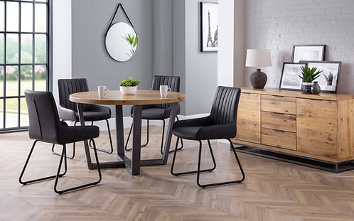 Brooklyn Round Dining Table  & 4 Soho Dining Chairs