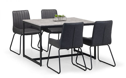 Staten Dining Table & 4 Soho Dining Chairs