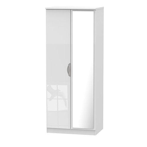 Camden Tall 2 Door Mirror wardrobe