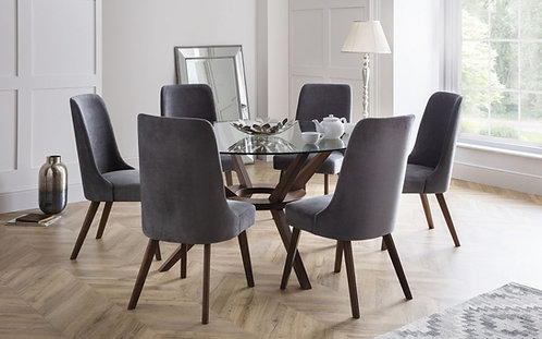 Chelsea Large & 4 Huxley Chairs-Dining Set