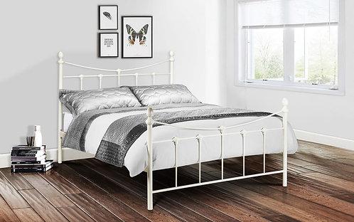 Rebecca Bed Frame-Stone White