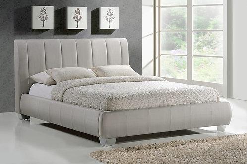 Braunston Fabric Bed Frame-Sand