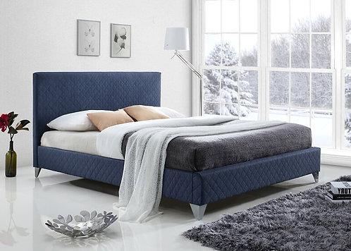Brooklyn Fabric Bed Frame-Blue