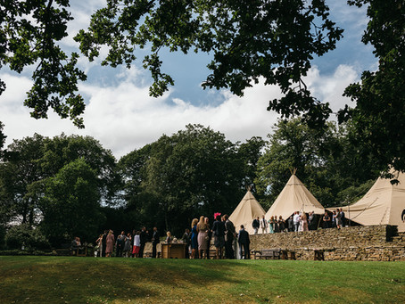 Yorkshire Tipi Wedding - Yorkshire Teepee Wedding - Amy & David, Cannon Hall Tipi Wedding.