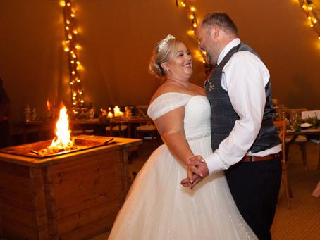 Lyndsey & Matt Intimate Tipi Wedding
