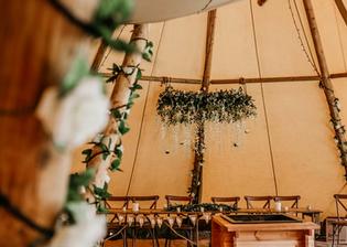 Garden Weddings Tipi Hire, Kyle & Jono Tipi Wedding