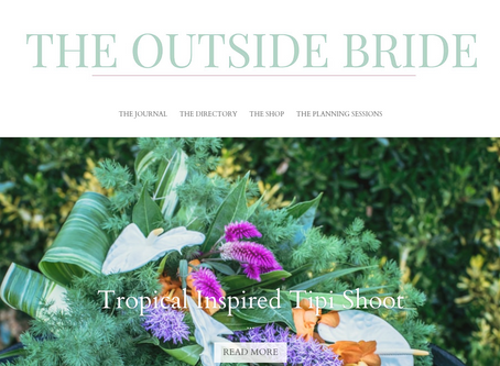 🌴 The Outside Bride - Tropical Inspired Tipi Shoot 🌴