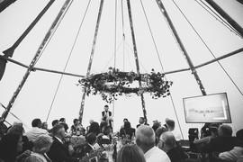 Garden Weddings Tipi Hire, Ash & Matt, W