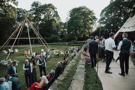 Chloe & Wayne Garden Weddings Tipi Hire Yorkshire