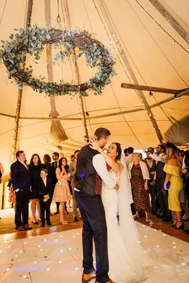 Garden Weddings Tipi Hire, Ash & Matt.jp