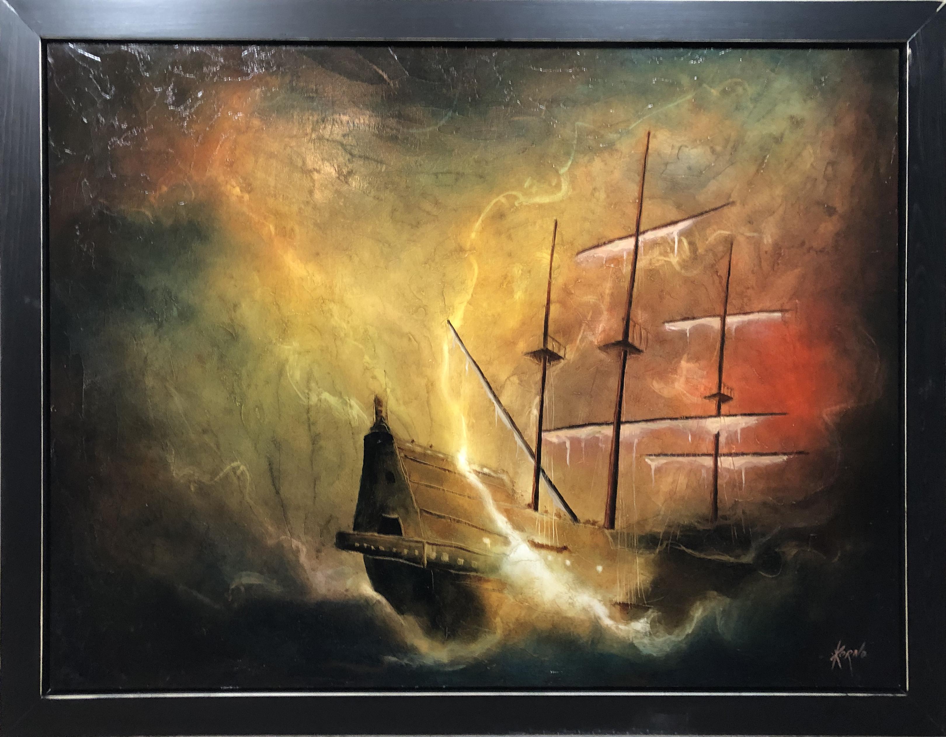 vaisseau fantome, 36x48