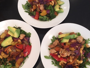 CHICKEN, CASHEW RAINBOW STIRFRY