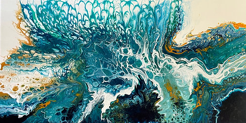 "Aqua Crest - 24 x 48"" acrylic"
