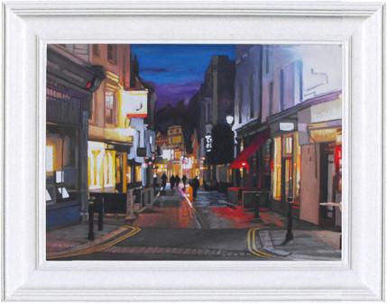Lamp-lit George Street