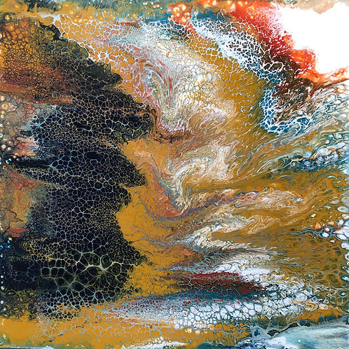 "Sienne Contours - 36"", acrylic"