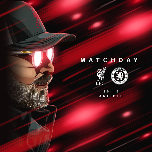 Liverpool V Chelsea Matchday  Poster