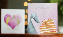 Dog and Cake Card
