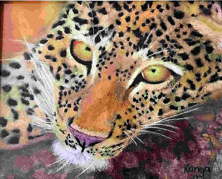 Resting Leopard_print_original_KangaFine