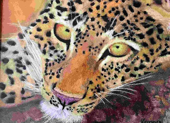 Resting Leopard - PRINT