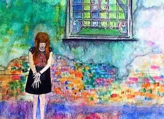 Girl near the window