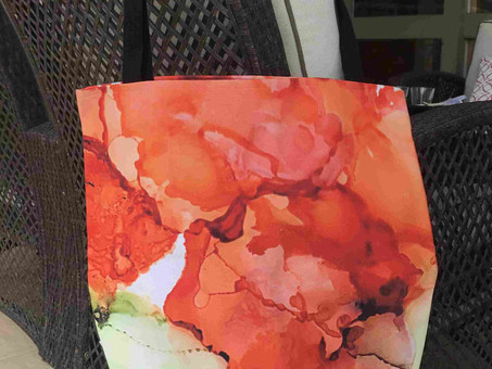 Art can be so versatile - you can print on fabric