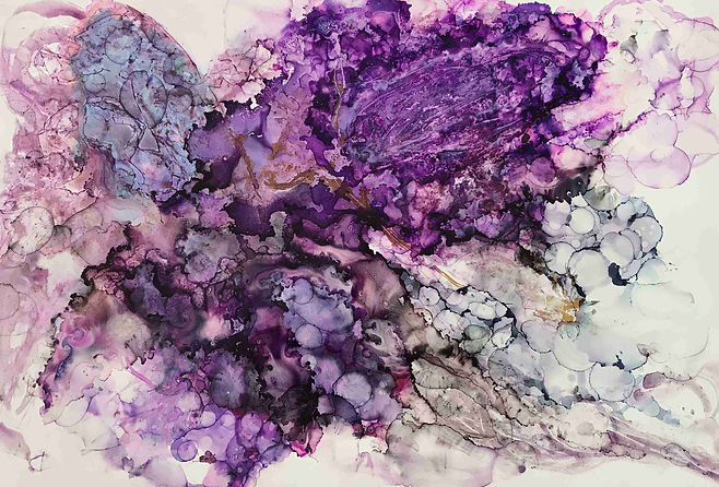 Wings_1_alcohol inks_fluidart_purple_gre