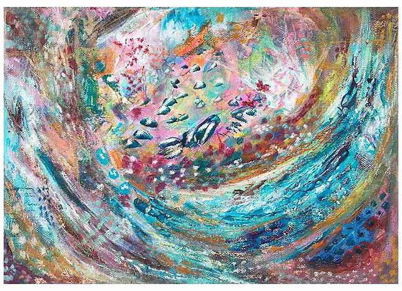 Underwater fish swirl