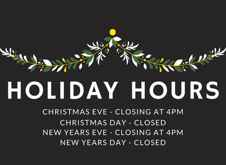 Shop Holiday Hours