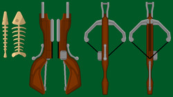 Pixel Crossbow and Fish-bone Detailed