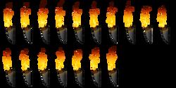 Torch Fire Sprite Sheet