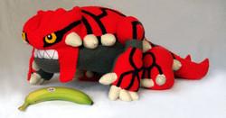 Crochet Groudon Pillow