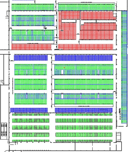 AutoCAD Warehouse layout
